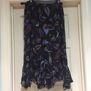 Dana Buchman woman SILK skirt asymmetrical size 16